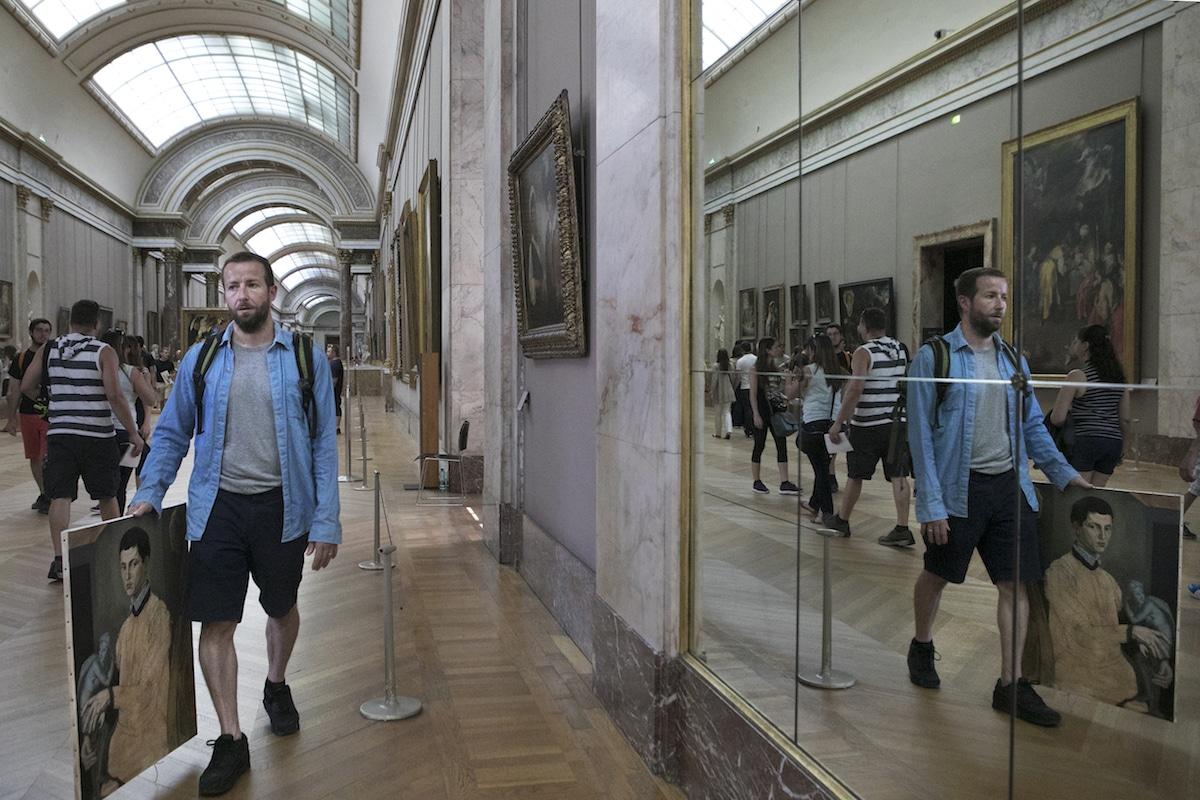 Louvre Copyists Ivan Guilbert photojournalist
