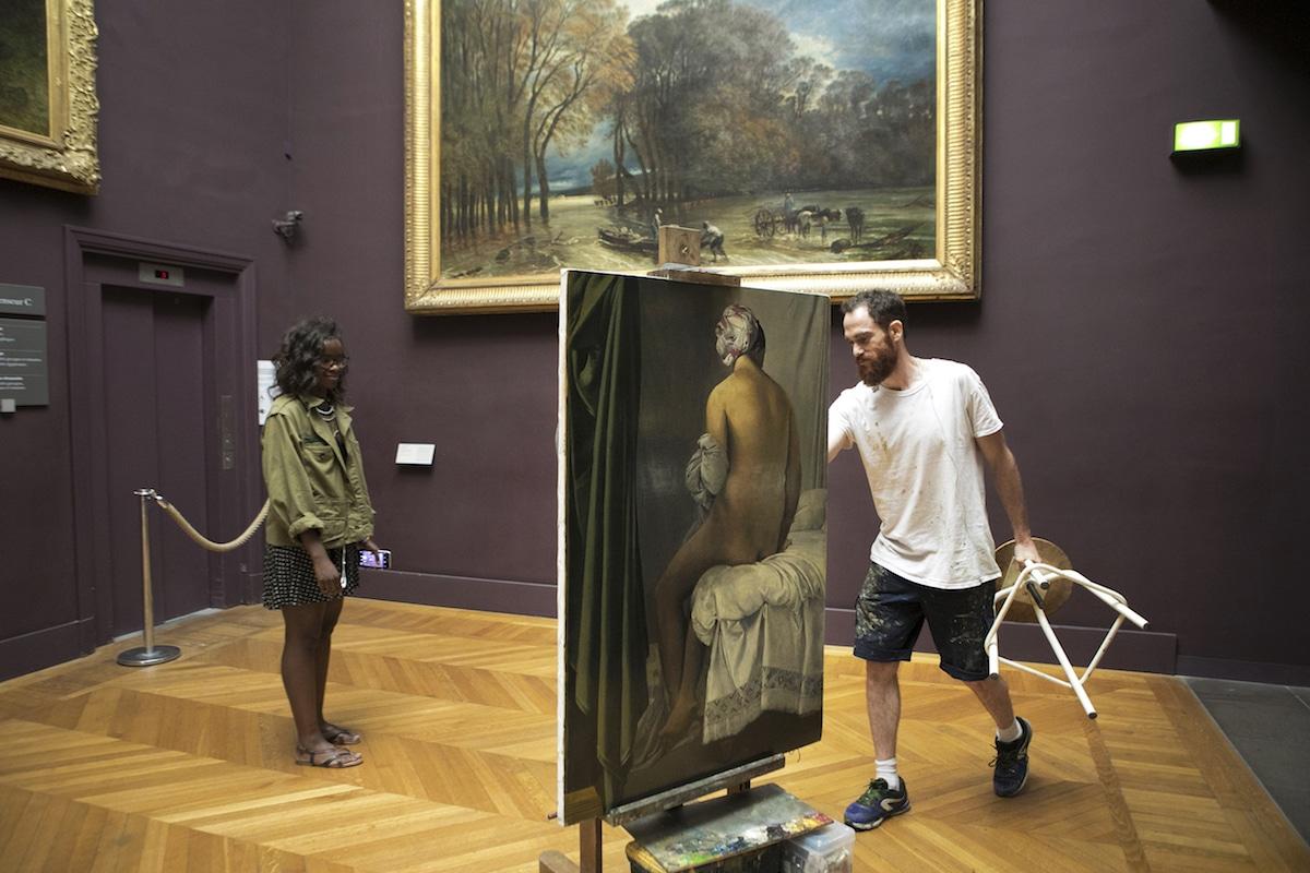 Louvre Copyist Ivan Guilbert