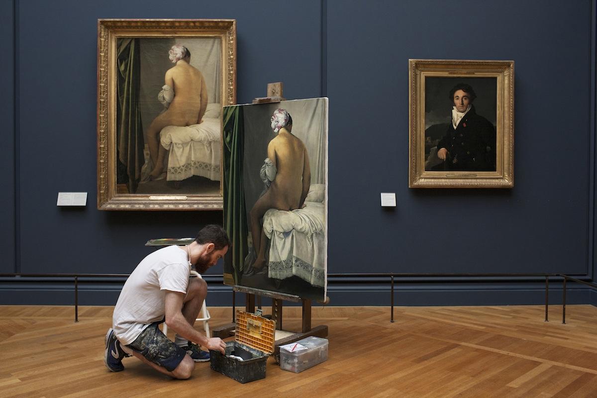 Louvre Copyist Ivan Guilbert photojournalism