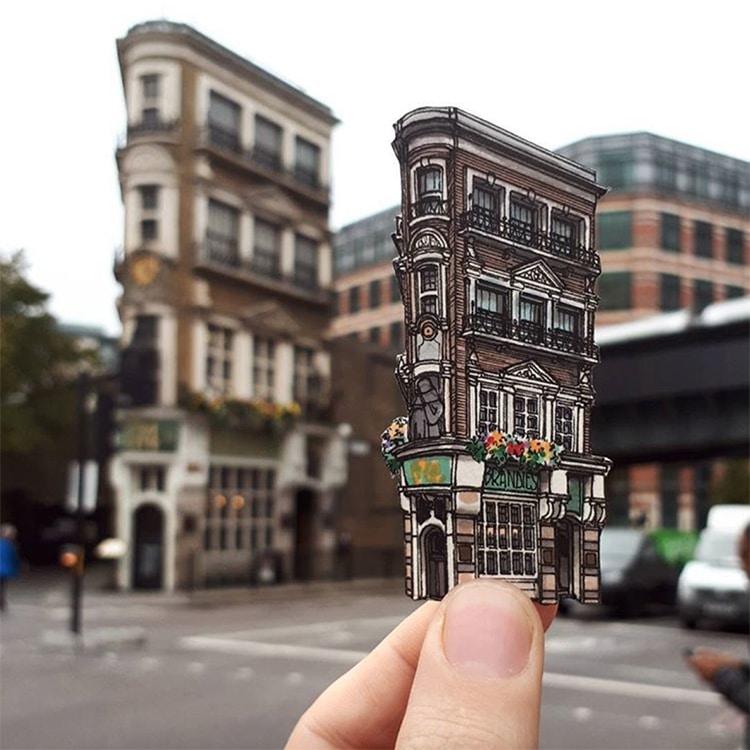 London Pub Illustrations Maxwell Tilse