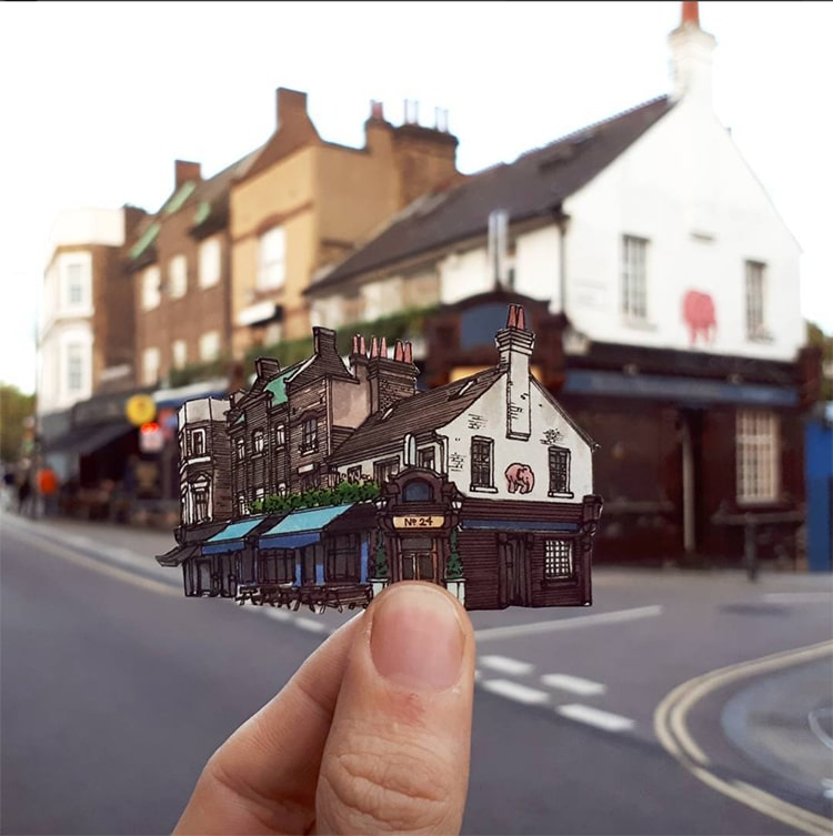London Pub Illustrations Maxwell Tilse