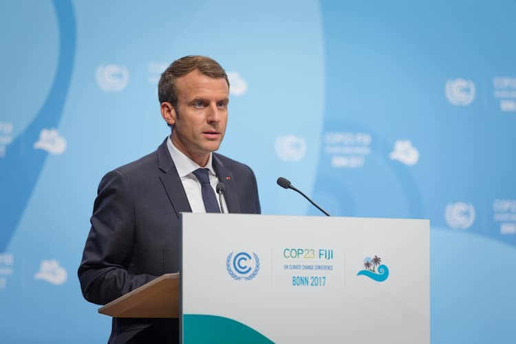 French President, Emmanuel Macron at COP23