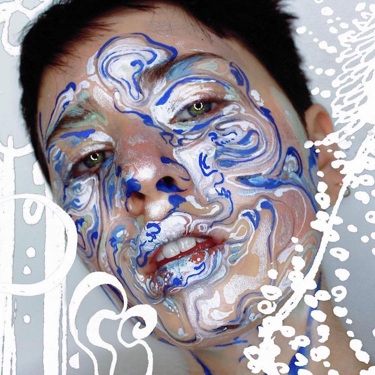 Body Art Makeup Artist Uses Faces As Canvas For Abstract Paintings