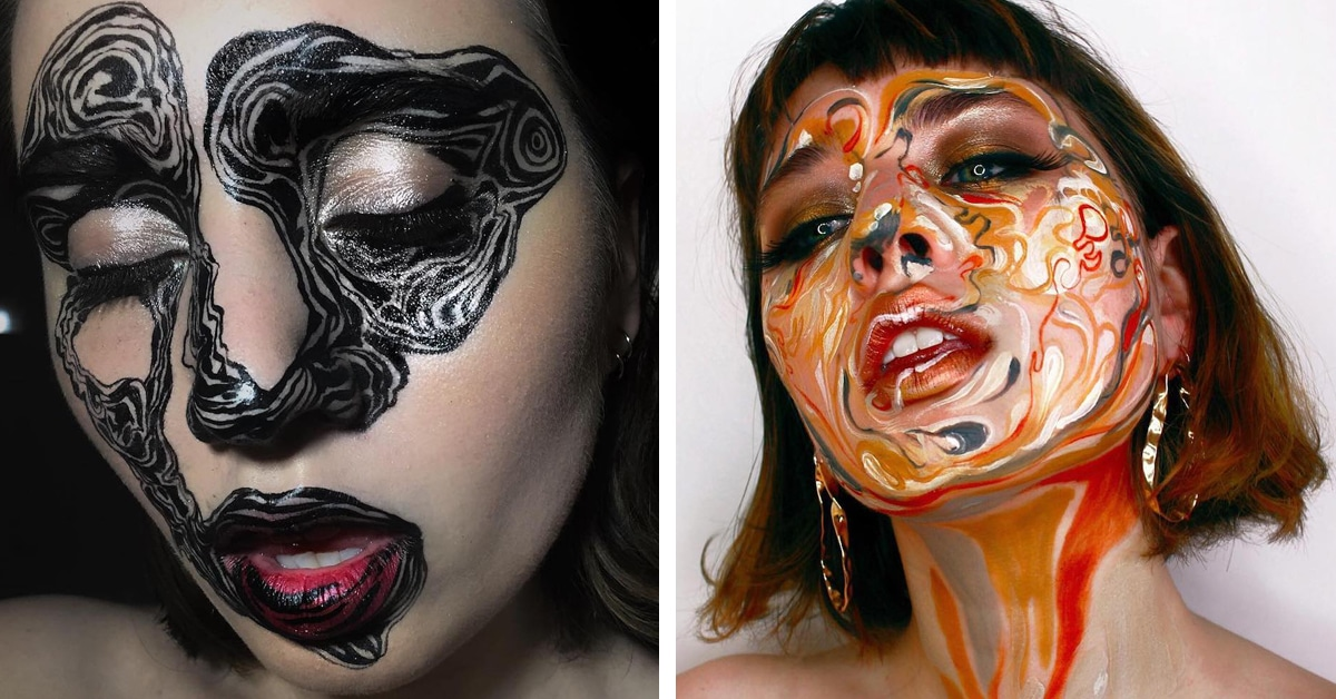 Body Art Makeup Artist Uses Faces as Canvas for Abstract ...