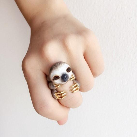 3-Piece Sloth Ring Holiday Gift Guide 2018
