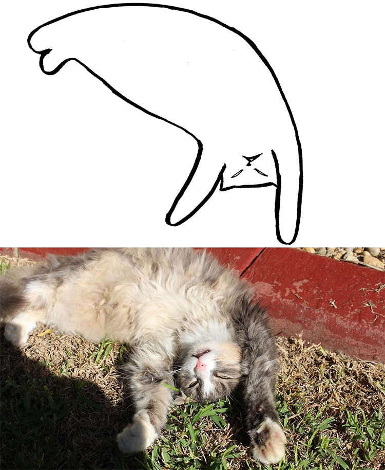 Minimal Cat Art Is A Subreddit Where People Share Their