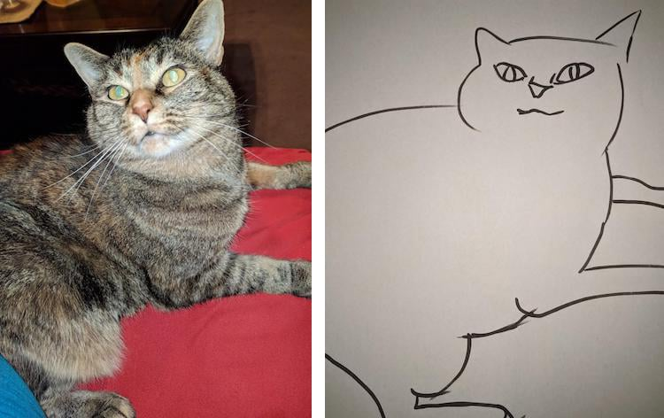Just Friends Friends Who Like To Do This Tumblr Minimal Cat Art is a S...