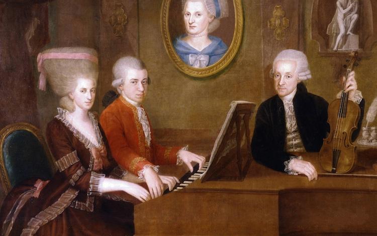 mozart pianoforte family portrait