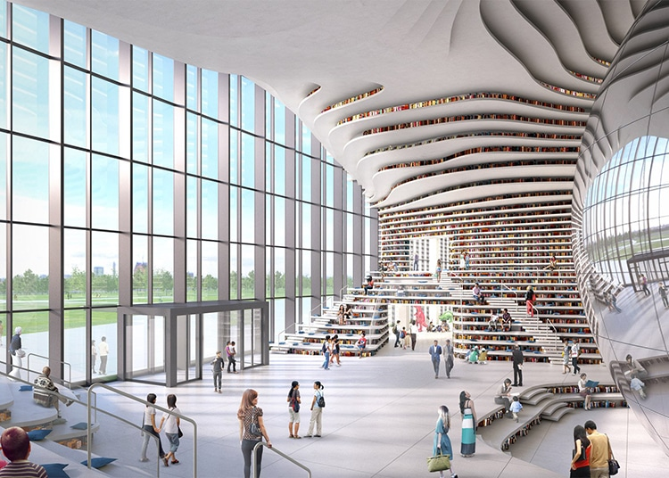 Mvrdv Tianjin Binhai Library on Creative Modern Home Designs