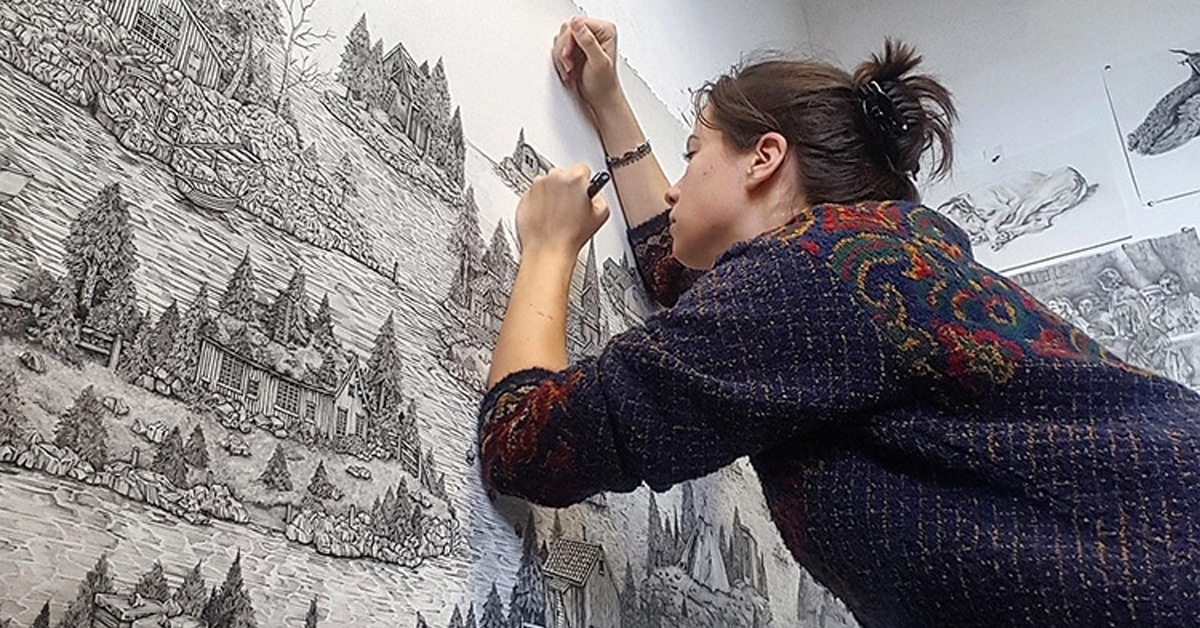 Artist Creates Detailed Pen And Ink Drawings Of Imaginary