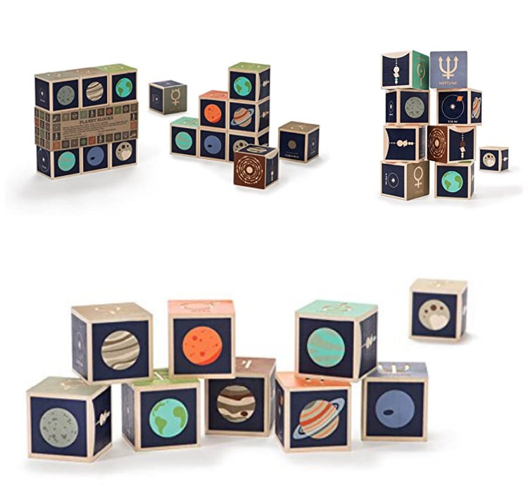 wood blocks learn about the planets