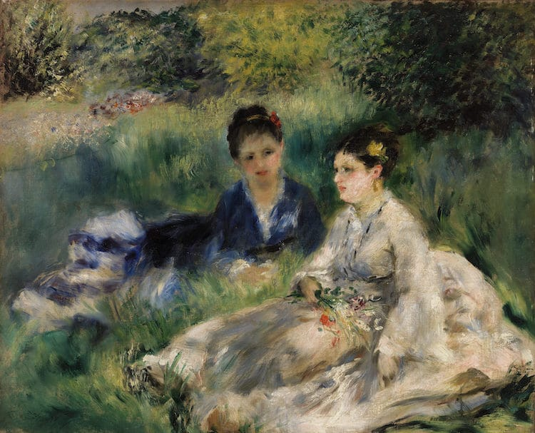 on the grass by renoir