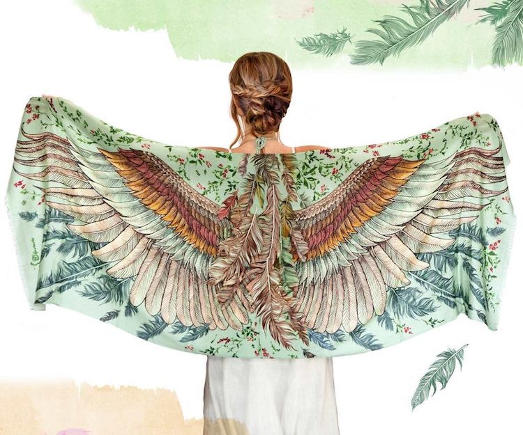 Holiday Gift Guide 2019 Vintage Bird Scarf by Shovava