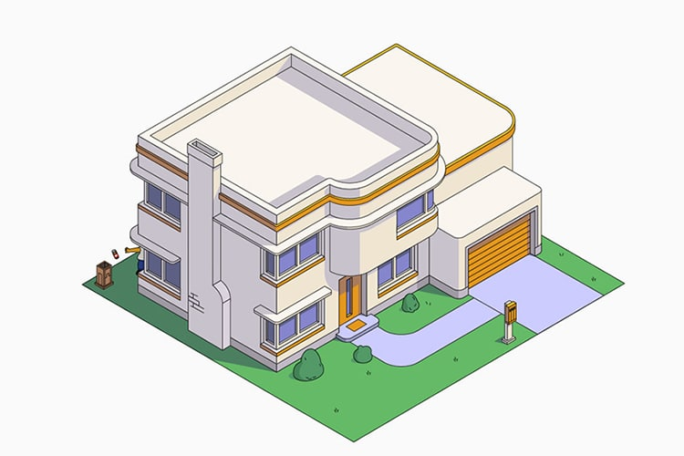 Simpsons Home Architecture Styles by NeoMam