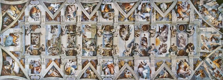 techo de la capilla sixtina por miguel angel