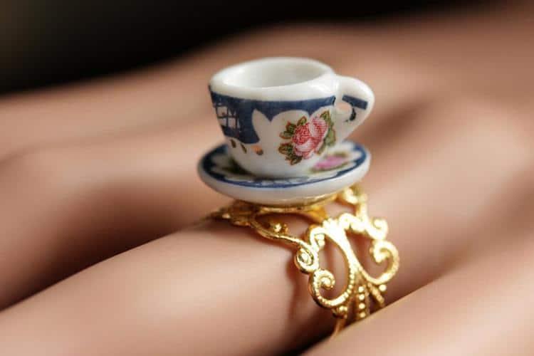 anillo de taza