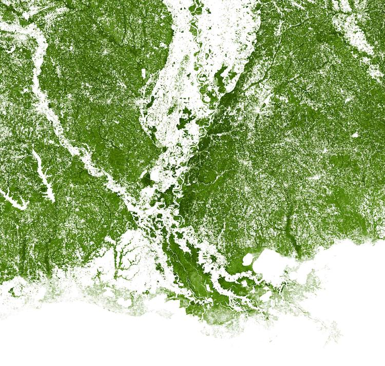 america map using satellite imagery