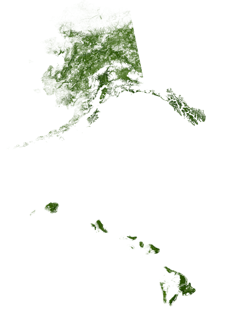 alaska map forests