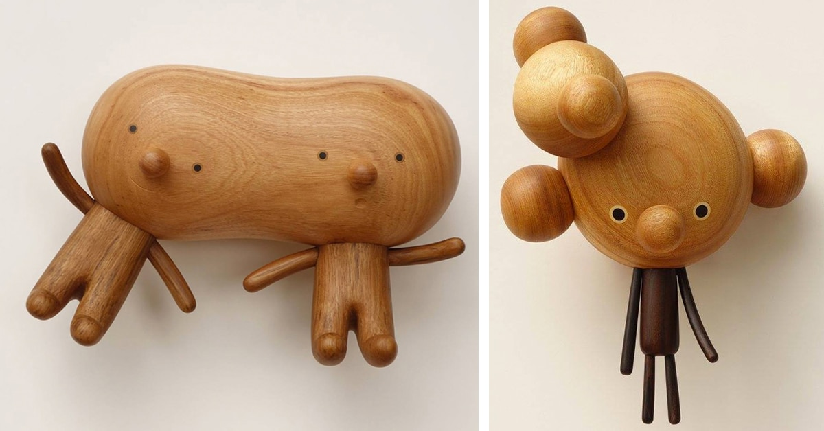 Toys Are Us Wooden Toys : Taiwanese artist hand carves charming wooden toys full of