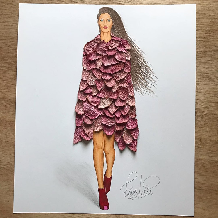Fashion Illustrations Playfully Combine Found Objects To Create Magnificent Evening Dresses