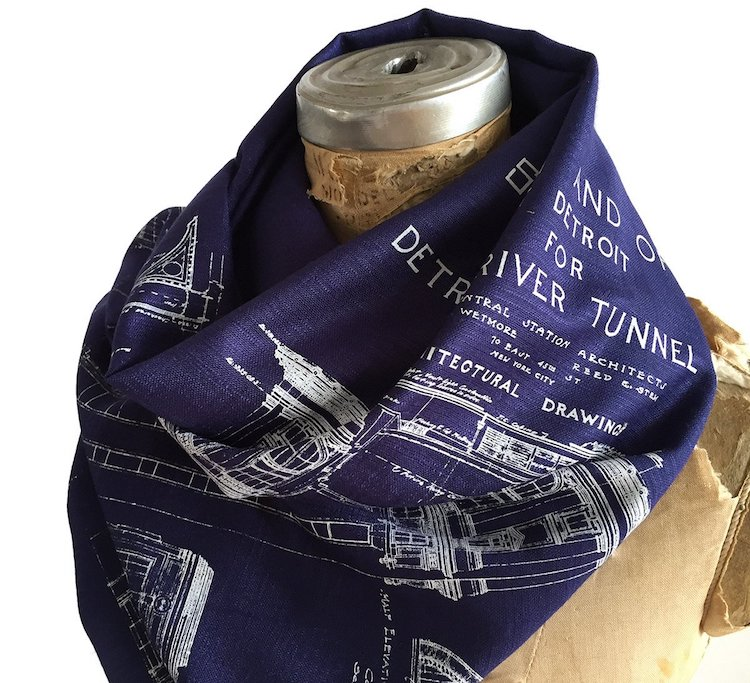Blueprint Scarf - Gift for Architects