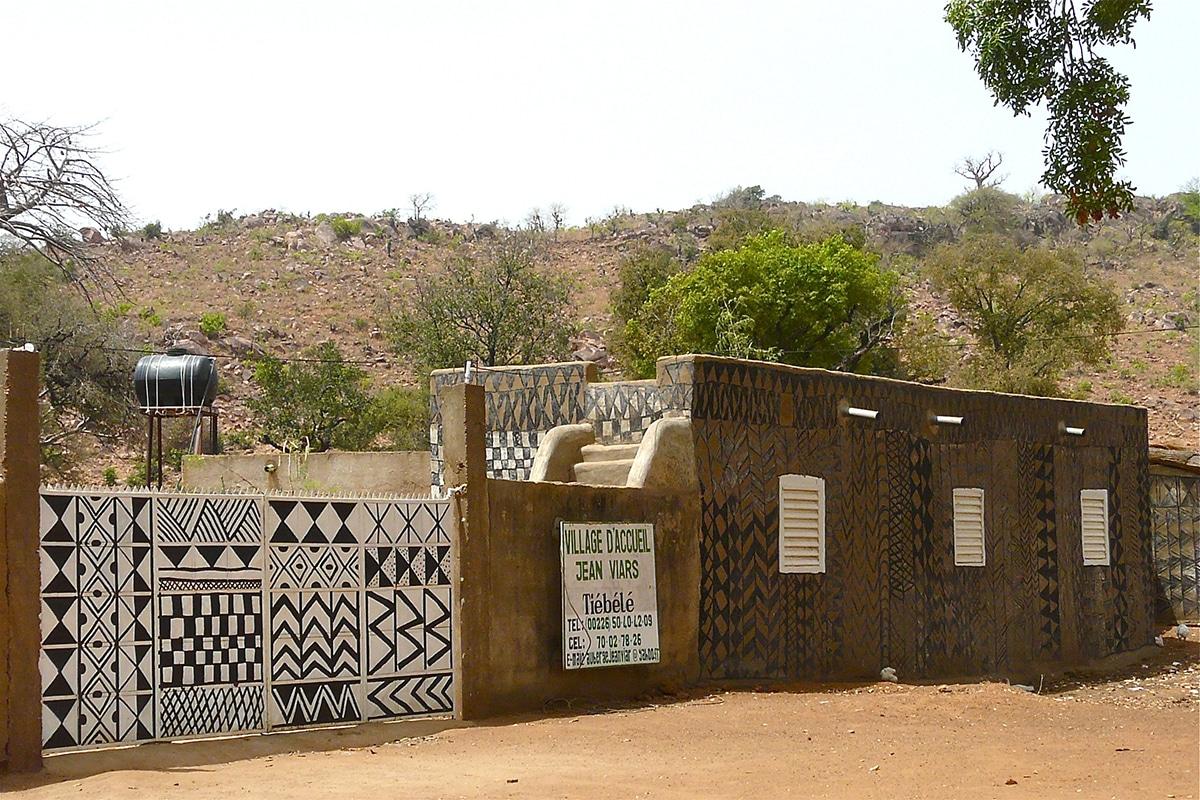 Artistic African Village Burkina Faso