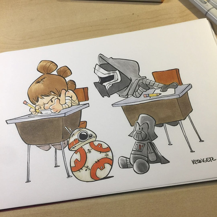 Calvin and Hobbes Comics Star Wars Mashup