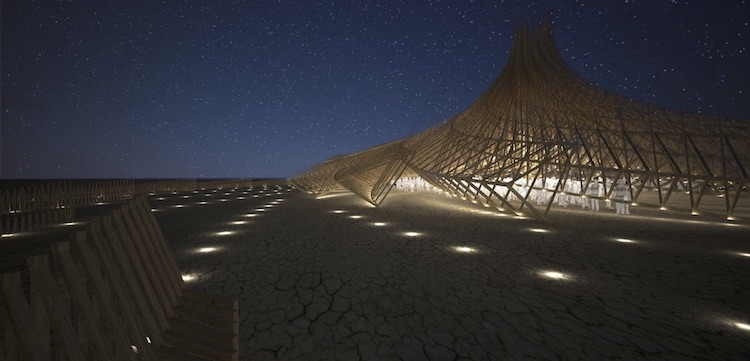 Burning Man 2018 Temple - Galaxia by Mamou-Mani Architects