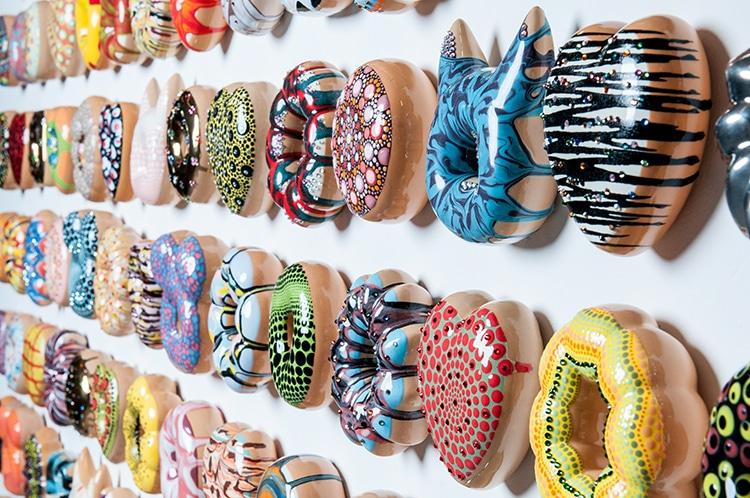 Artist Sculpts Modern Art Inspired Ceramic Glazed Donuts