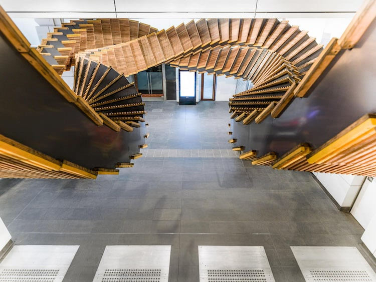 Wooden Escalator, Sculptures Made From Recycled Materials