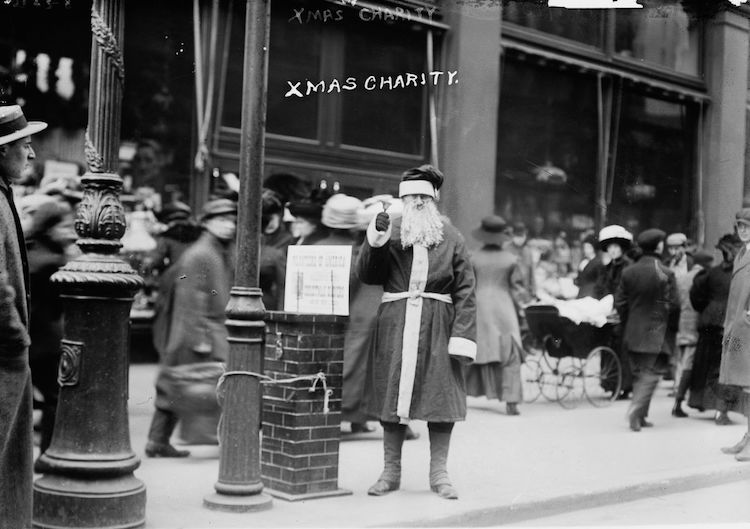 old pictures of New York Christmas