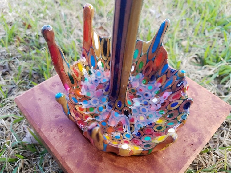 Colored Pencils Sculpture by Bobby Duke