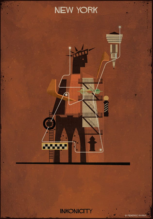 federico babina travel illustration