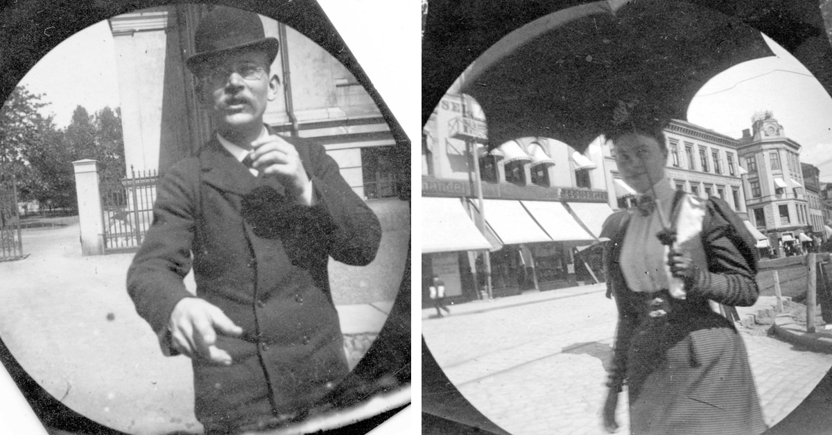 Young Student Secretly Photographs People with Hidden Spy Cam in the 1890s