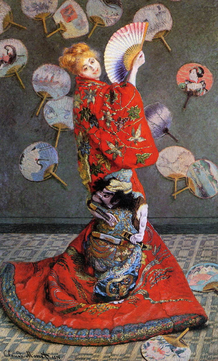 Claude Monet, Camille Monet in Japanese Costume (1876)