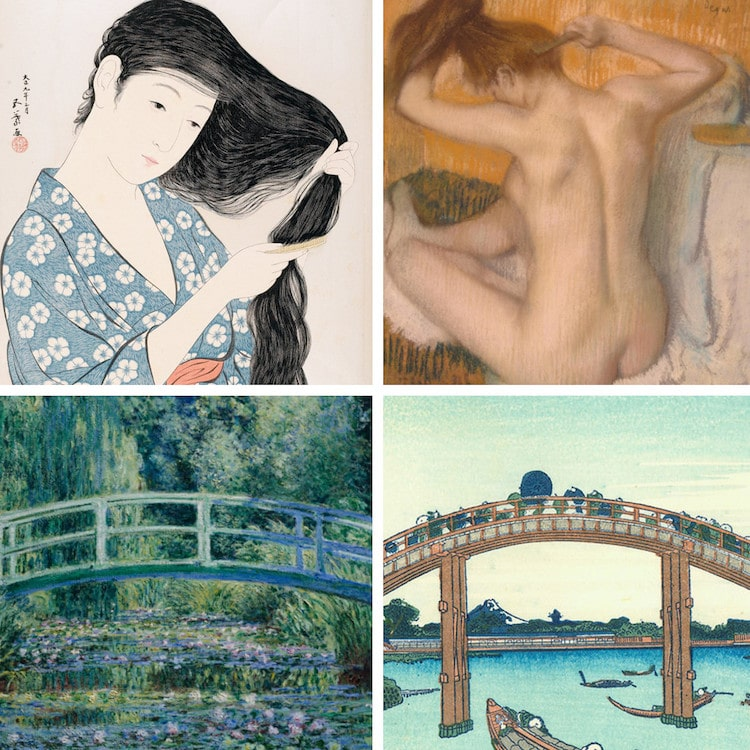 Japanese Art Japonism Impressionism Monet Japanese Bridge