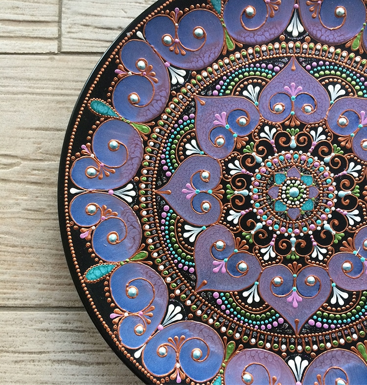 Mandala Art Tableware by Ana Art Studio