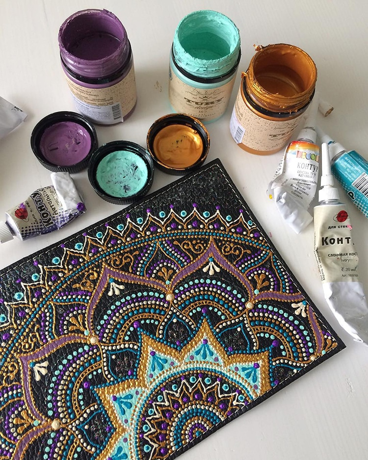 Mandala Art Tableware by Ana Art Studio