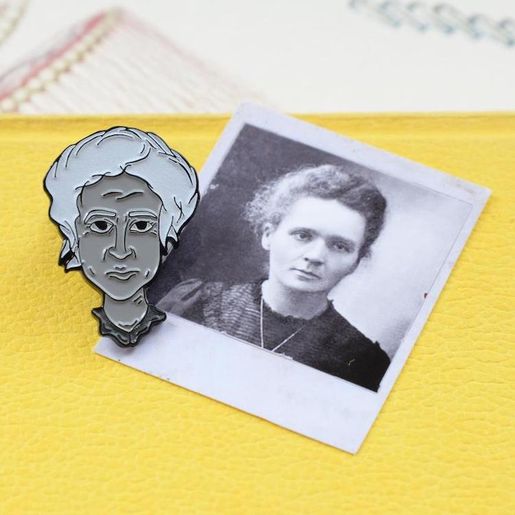 Marie Curie Enamel Pin