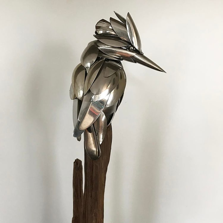 Artist Turns Unwanted Scrap Metal Into Magnificent Bird Sculptures