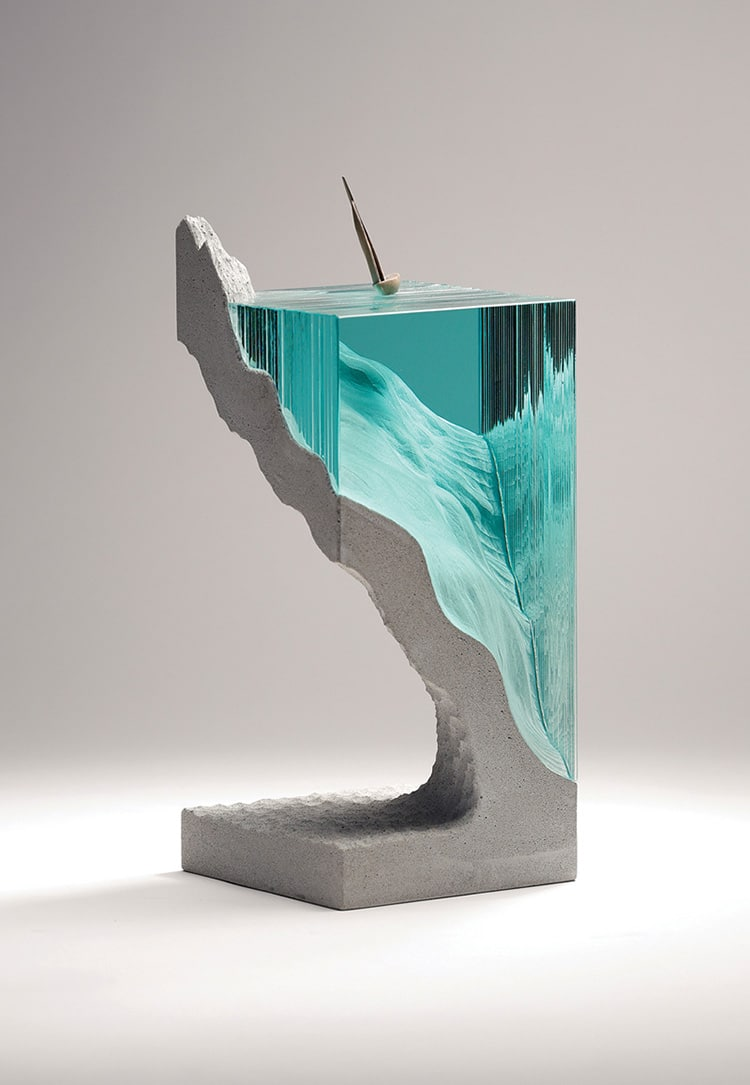 New Glass and Concrete Ocean Sculptures by Ben Young