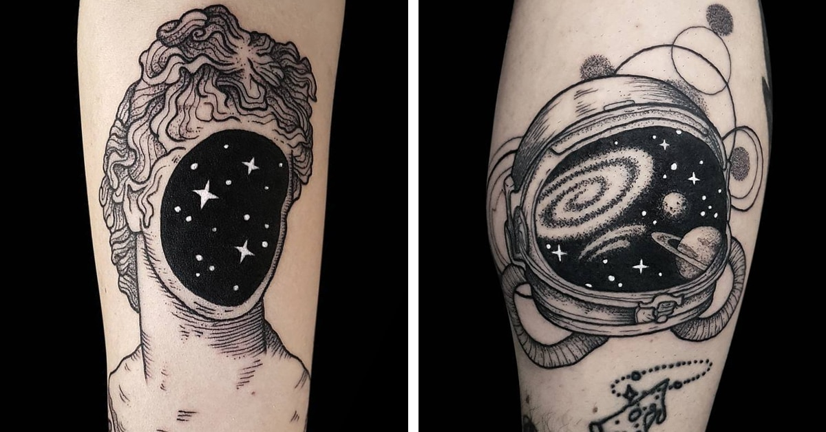 a374b0ad1 Stars Align in Surreal Blackwork Tattoos Inspired by Space Travel and Fine  Art | My Modern Met | Bloglovin'