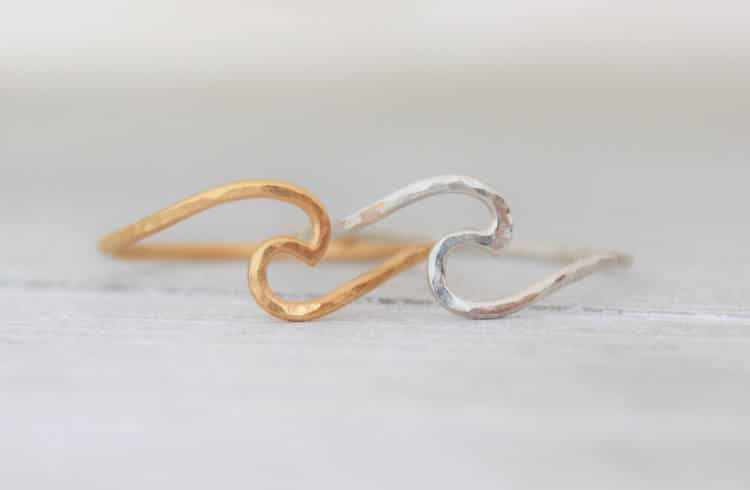 Ocean Wave Rings PinkingEdgeDesigns