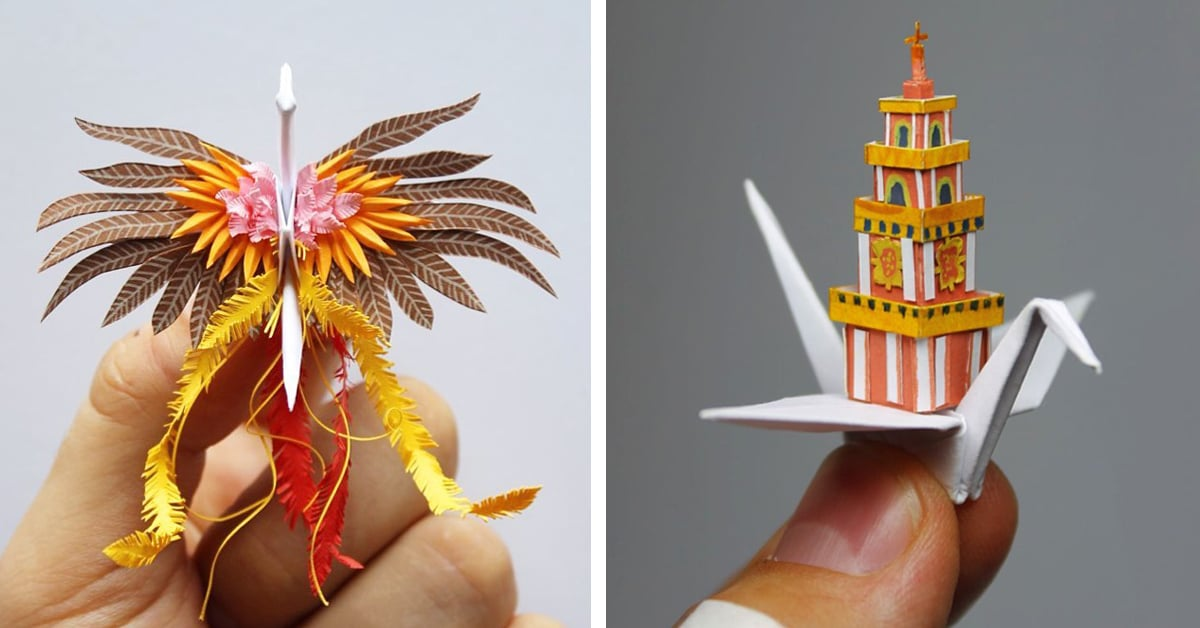 Paper Artist Creates 1000 Elaborate Origami Cranes And Counting