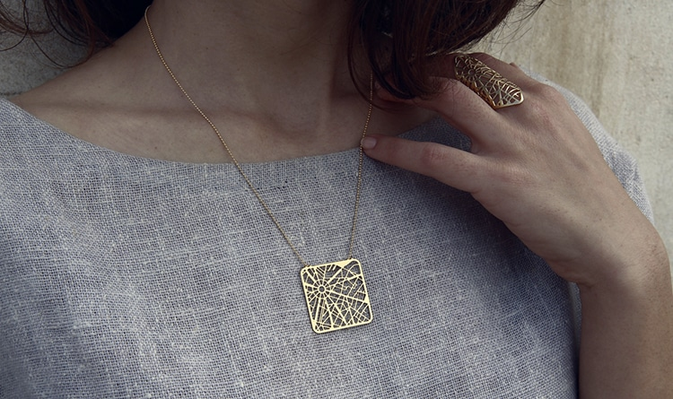 City Map Jewelry