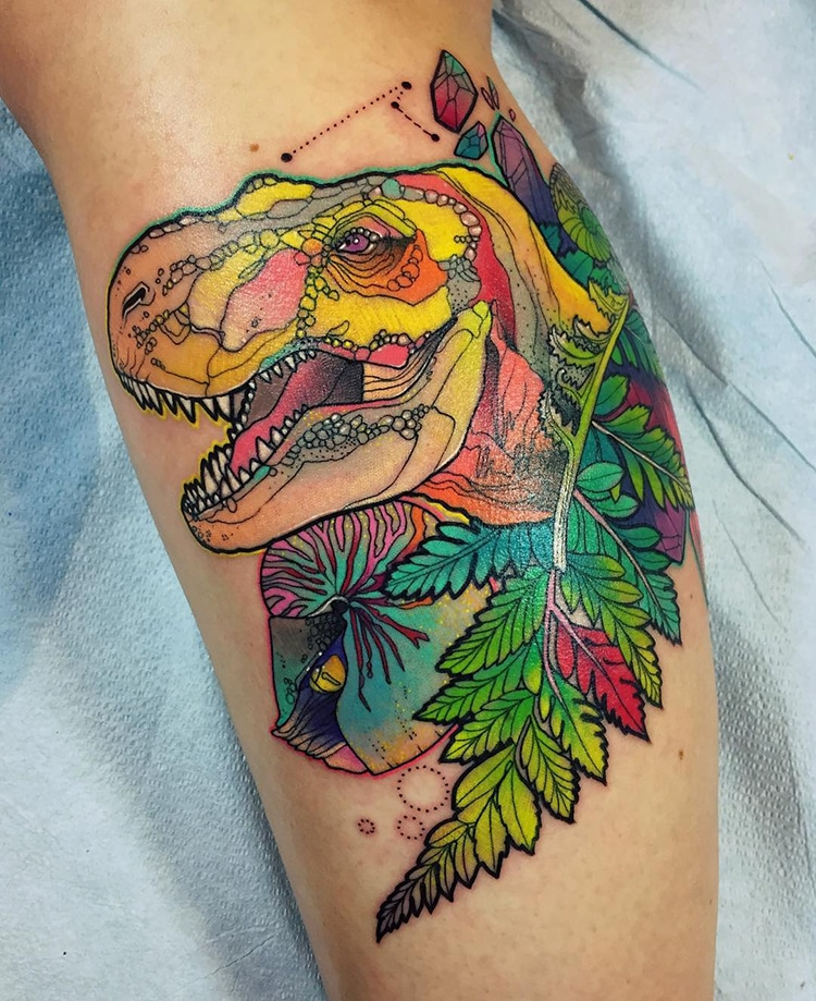 Animal Tattoos: Artist's Psychedelic Animal Tattoos Pop From The Skin With