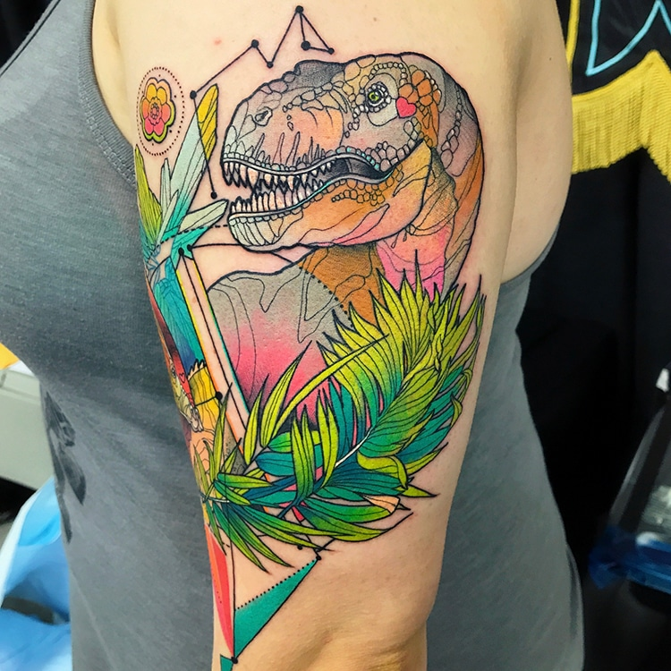 Psychedelic Animal Tattoos by Katie Shocrylas