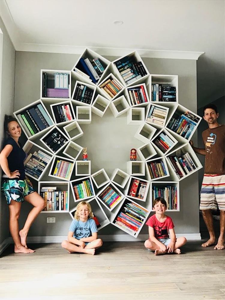 Creative bookshelf design is a pinterest diy done right - Creative design ideas for the home ...
