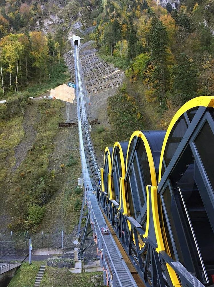 Stoosbahn Is In Switzerland Is The World S Steepest Funicular