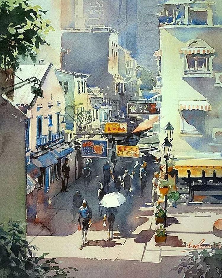 Watercolor Paintings by Kwan Yeuk Pang